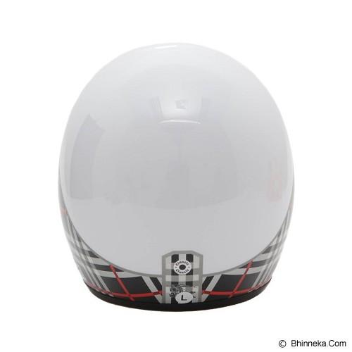 WTO Helmet Retro Fashion Mode Size M - Putih - Helm Motor Half Face