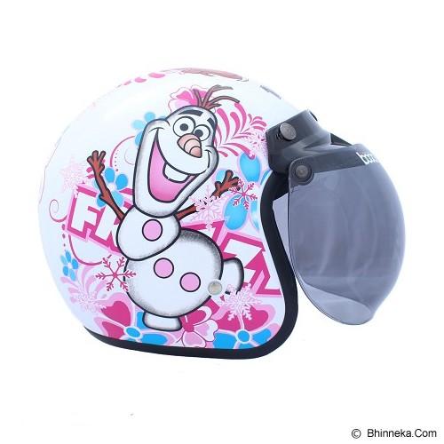 WTO Helmet Retro Frozzy Size XL - Putih - Helm Motor Half Face