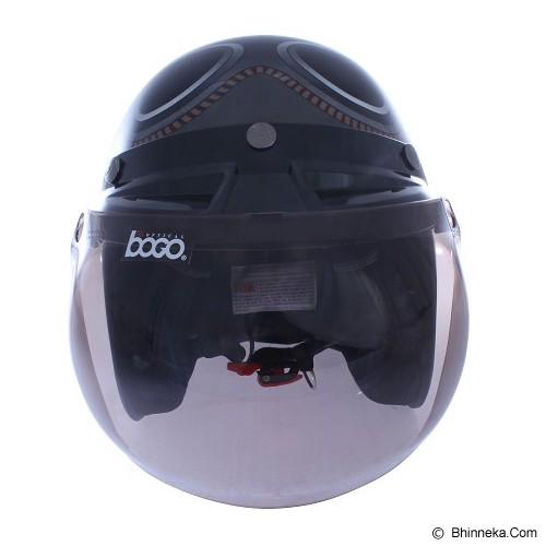 WTO Helmet Retro Kacamata Size L - Abu Cokelat - Helm Motor Half Face