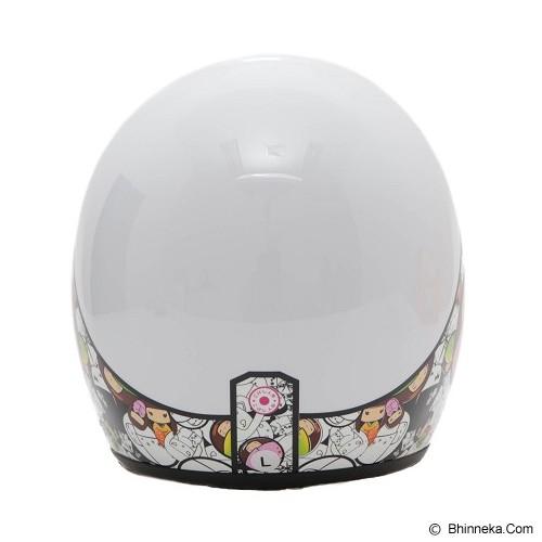 WTO Helmet Retro Kokhesi Size XL - Putih - Helm Motor Half Face
