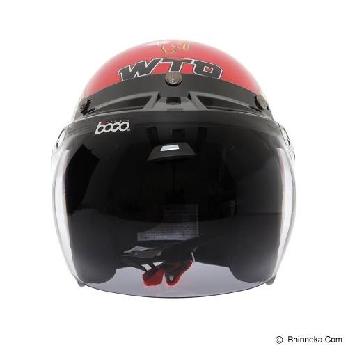 WTO Helmet Retro Manchaster Size L - Merah - Helm Motor Half Face