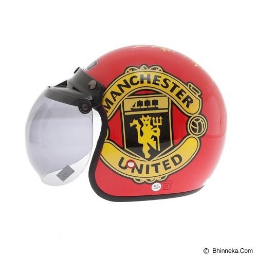 WTO Helmet Retro Manchaster Size XL - Merah - Helm Motor Half Face