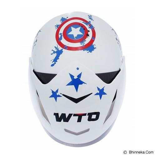 WTO Helmet X-Fast American Warrior Size L - Putih - Helm Motor Half Face