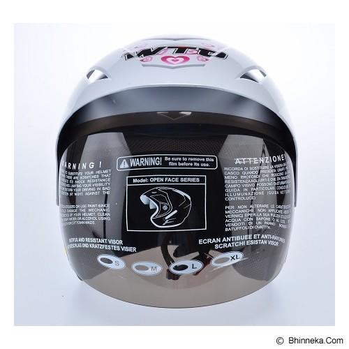 WTO Helmet X-Fast Bee In Love Size L - Putih - Helm Motor Half Face