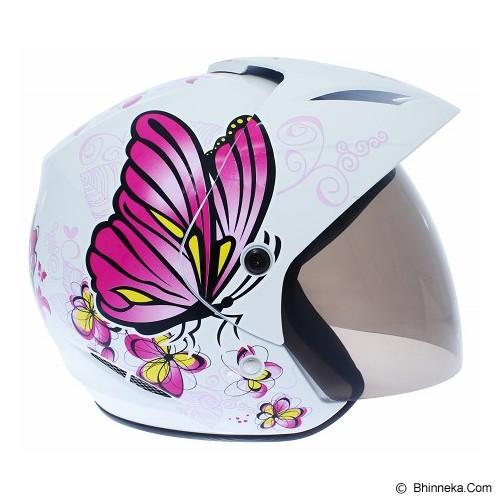 WTO Helmet X-Fast Butterfly Size L - Merah Pink - Helm Motor Half Face