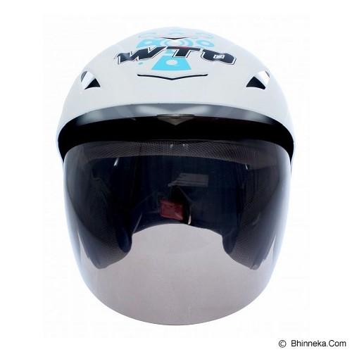 WTO Helmet X-Fast Minion Size L - Putih - Helm Motor Half Face