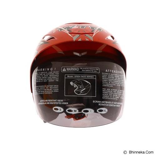 WTO Helmet X-Fast Race Size L - Merah Merah - Helm Motor Half Face