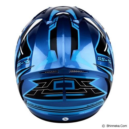 WTO Helmet X5 SS-45 Size M - Biru - Helm Motor Half Face