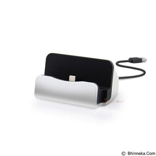 XBX Charger & Sync Dock Lightning Apple iPhone 5/6/7 - Silver (Merchant) - Charger Handphone