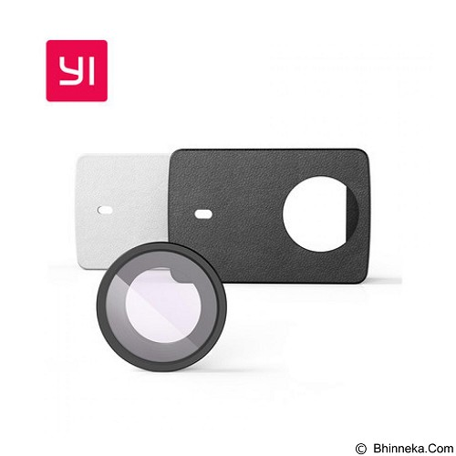 XIAOMI Lens Protection & Leather Case for Yi 2 4K - White (Merchant) - Camcorder Lens Cap and Housing Protection