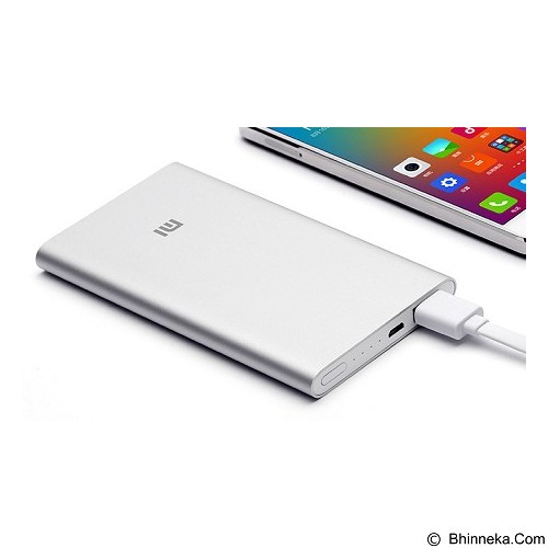 XIAOMI Mi Powerbank 5000mAh - Silver - Portable Charger / Power Bank