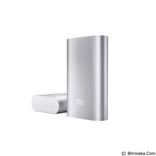 XIAOMI Powerbank 5200mAh [XIAOMI5200SILVER] - Silver - Portable Charger / Power Bank