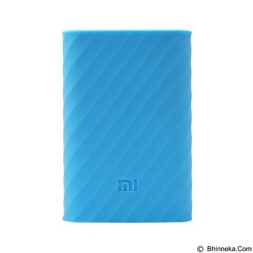 XIAOMI Silicon Case for Mi Power Bank 10000mAh - Blue (Merchant) - Casing Powerbank / Case