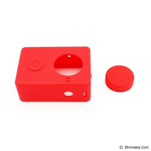 XIAOMI Silicone Softcase Xiaomi Yi Camera - Merah - Camcorder Lens Cap and Housing Protection