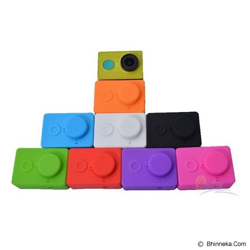XIAOMI Silicone Softcase Xiaomi Yi Camera - Ungu - Camcorder Lens Cap and Housing Protection