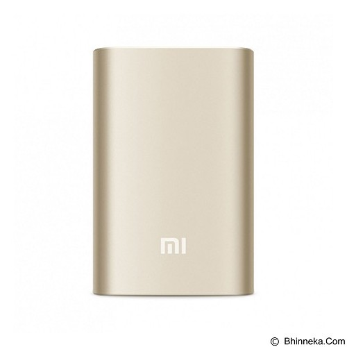 XIAOMI Slim Power Bank 10000mAh - Gold - Portable Charger / Power Bank