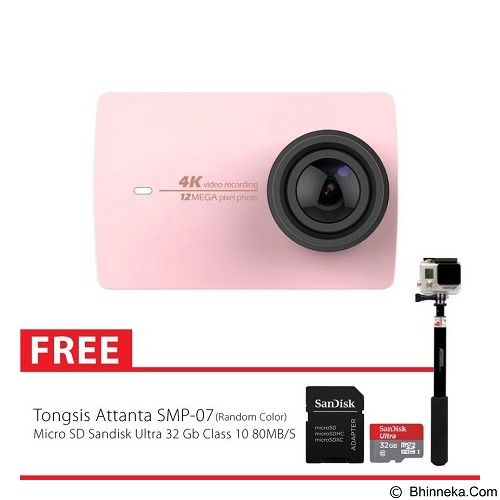 XIAOMI Yi Action Camera II 4K Combo Supreme - Pink (Merchant) - Camcorder / Handycam Flash Memory