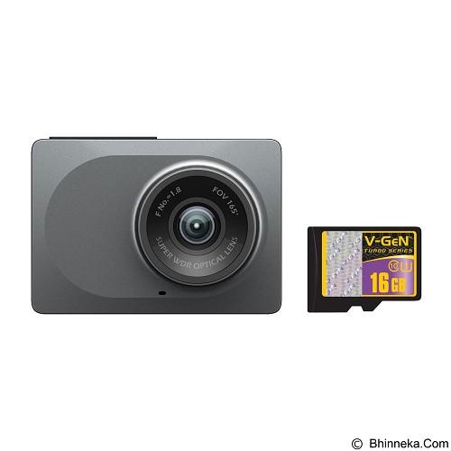 XIAOMI Yi Smart Dash Camera Car DVR China Version with Memory 16GB - Gray (Merchant) - Kamera Mobil
