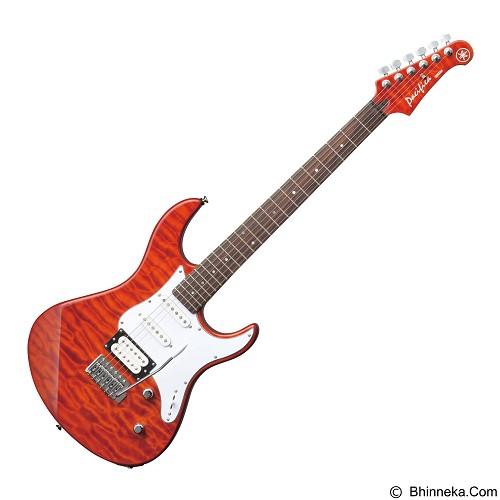 YAMAHA Gitar Elektrik Pacifica Series [PAC212VQM] - Caramel Brown - Gitar Elektrik