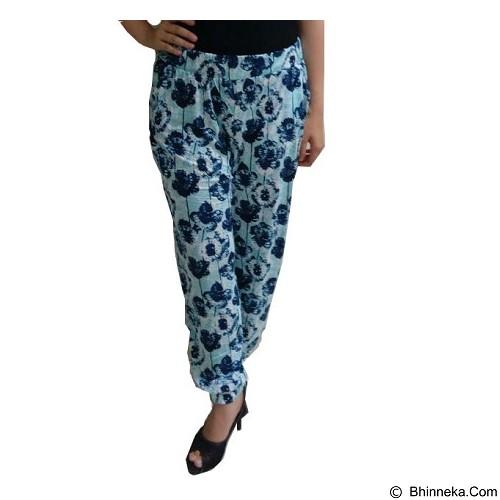 YOURA Celana Joger Corak Bunga Size L [CJ001] - Blue (Merchant) - Celana Panjang Wanita