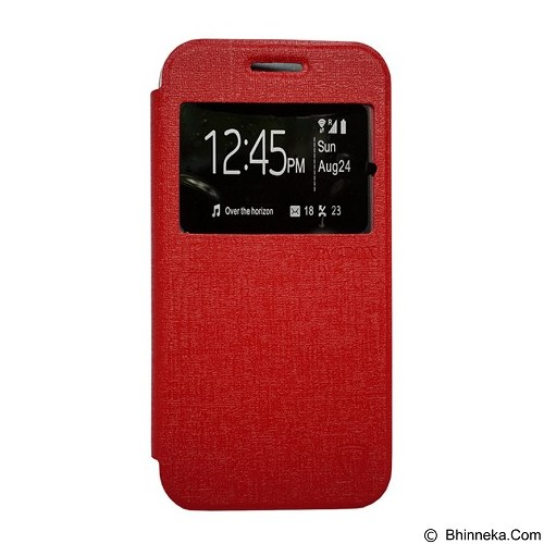 ZAGBOX Flip Cover for Samsung Galaxy J1 Mini - Red (Merchant) - Casing Handphone / Case
