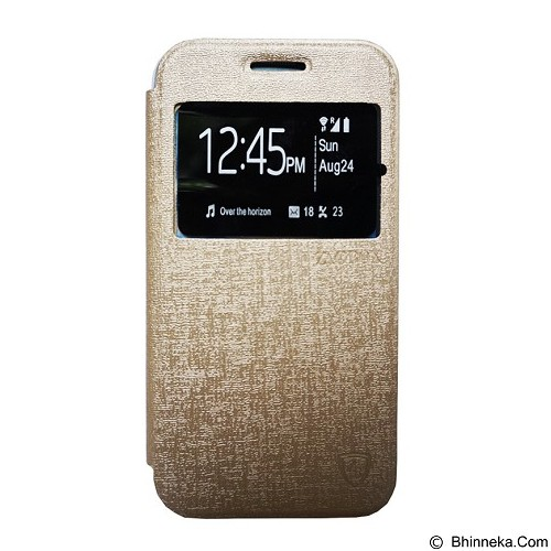 ZAGBOX Flip Cover for Samsung Galaxy S7 Edge - Gold (Merchant) - Casing Handphone / Case