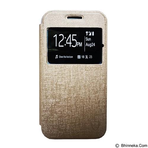 ZAGBOX Flip Cover for Samsung Galaxy S7 Edge - Gold (Merchant) - Casing Handphone / Case