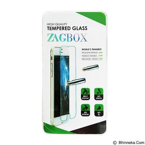 ZAGBOX Tempered Glass Samsung Galaxy S6 Edge Plus - Clear (Merchant) - Screen Protector Handphone