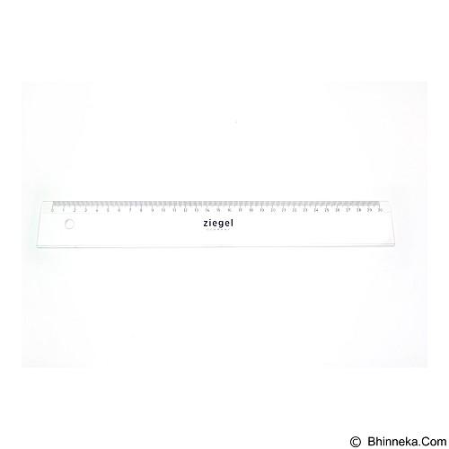 ZIEGEL Ruler Flat Rotring 30cm [819030] - White - Penggaris Plastik