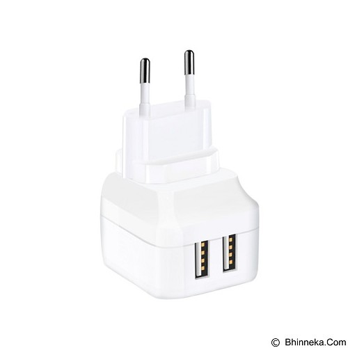 ZIKKO Charger Plus 2 USB Ports [GPE161] - White - Universal Charger Kit