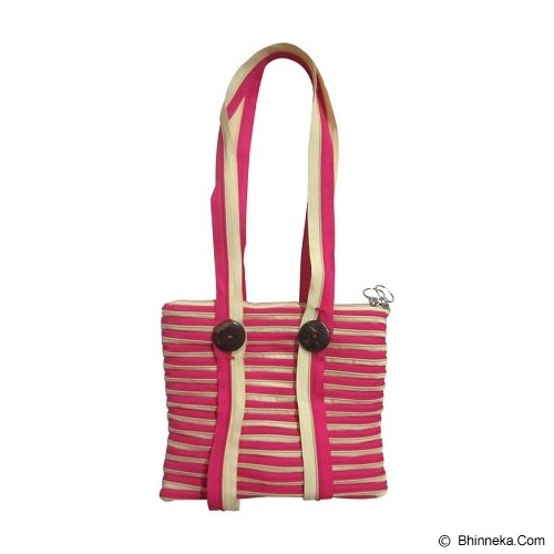 ZIP N ROLL Tote Bag [TB001] - Pink Cream - Tote Bag Wanita