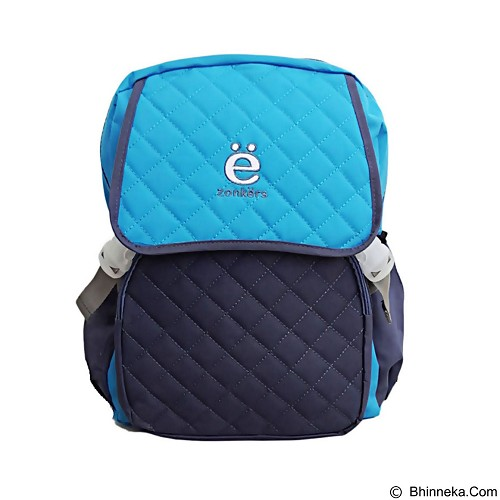 ZONKER Backpack with Laptop Slot + Rain Cover - Blue (Merchant) - Notebook Backpack