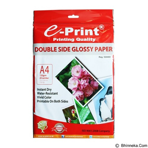 e-Print Double Side Glossy A4 [PP-GLO-003] - Kertas Foto / Photo Paper