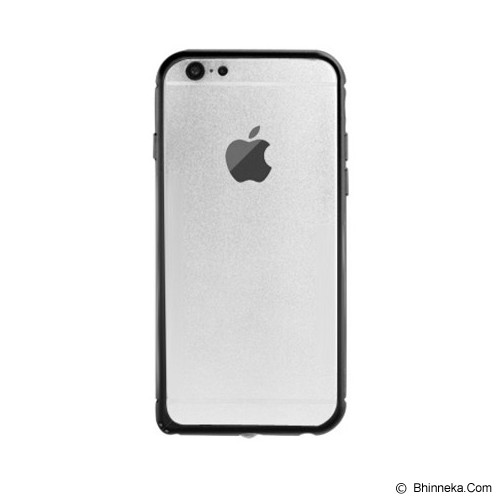 iBACKS Arc Shaped Damascus Aluminium Bumper for Apple iPhone6 [ip60012] - Black - Casing Handphone / Case