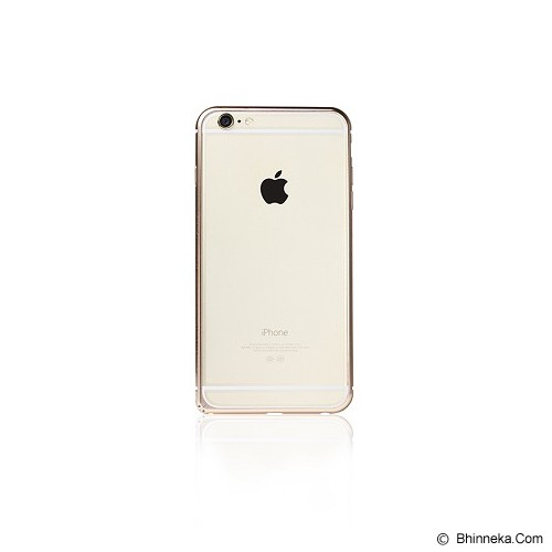 iBACKS Arc Shaped Venezia Aluminium Bumper for iPhone 6 Plus [ip60060] - Champaign Gold - Casing Handphone / Case