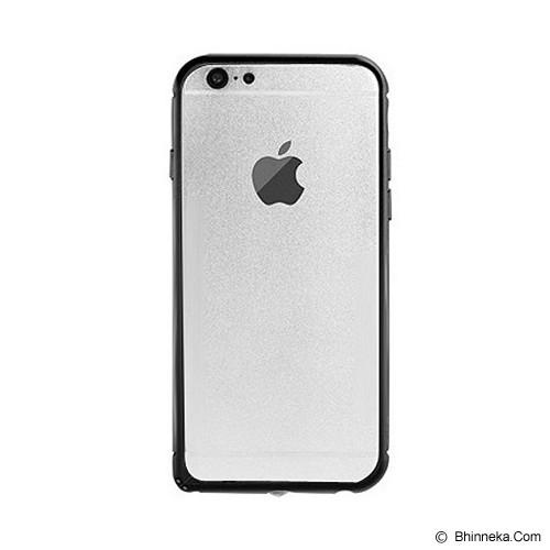 iBACKS Arc Shaped Venezia Aluminium Bumper for Apple iPhone6 [ip60009] - Black - Casing Handphone / Case