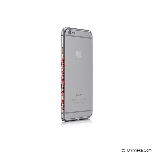 iBACKS Colorful Arc Shaped Flame Aluminium Bumper for iPhone 6 Plus [ip60065] - Space Grey - Casing Handphone / Case