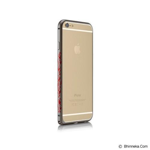 iBACKS Colorful Arc Shaped Flame Aluminium Bumper for iPhone 6 Plus [ip60065] - Space Grey - Casing Handphone / Case