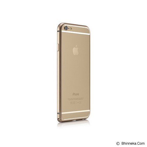 iBACKS Essence Aluminium Bumper for iPhone 6 Plus [ip60057] - Champaign Gold - Casing Handphone / Case