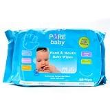 PURE BABY Hand & Mouth Wipes Aloe Vera 60