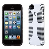 SPECK CandyShell Grip Case Apple iPhone 5/5s - White/Black - Casing Handphone / Case
