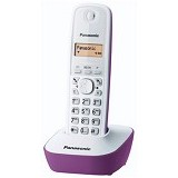 PANASONIC Cordless Phone [KX-TG1611] - White/Violet - Wireless Phone