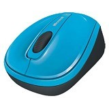 MICROSOFT Wireless Mobile Mouse 3500 [GMF-00275] - Cyan Blue - Mouse Desktop