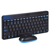 LOGITECH Keyboard Mouse Wireless MK240 - Black - Keyboard Mouse Combo