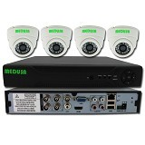 MEDUSA CCTV Paket 4 Camera Outdoor KIT-3704D Dome 700TVL - Ip Camera