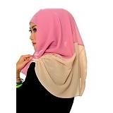 DSTYLEHIJAB 2 tone shoodie - Pink - Hijab