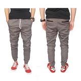 GUDANG FASHION Celana Panjang Jogger Chino Size 29 [CLN 587-29] - Abu-Abu - Celana Panjang Pria