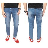 GUDANG FASHION Celana Joger Garmen Size 31 [CLN 592-31] - Biru Muda