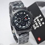 SWISS ARMY Watch[SA1178]-Black/white - Jam Tangan Pria Casual