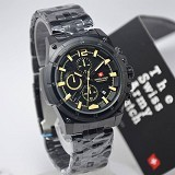 SWISS ARMY Watch[SA1178]-Black/Yellow - Jam Tangan Pria Casual